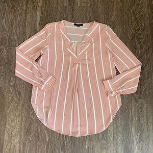 Forever 21 Baby Pink Long Sleeve Shirt Size Small